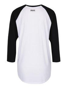 Čierno-biele unisex tričko s 3/4 rukávom ZOOT Originál I am not lazy