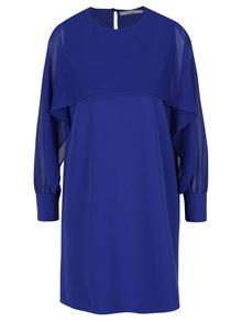 Modré šaty s průsvitnými detaily DÉCCADA
