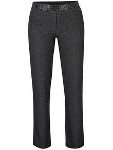 Tmavě šedé kalhoty s aplikací na lemu DEHA