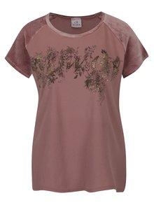 Tricou de damă cu mâneci din catifea - DEHA