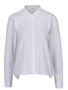 Bílá dámská volná krátká košile se zavazováním na zádech DÉCCADA