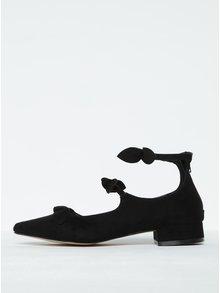 Černé sandály v semišové úpravě s mašlí Dorothy Perkins