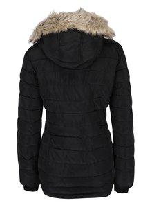 Čierna prešívaná zimná bunda s umelou kožušinou Dorothy Perkins