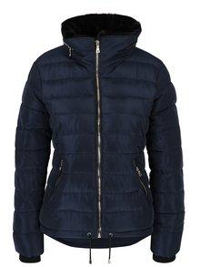 Tmavomodrá prešívaná zimná bunda Dorothy Perkins