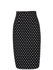 Černá puntíkovaná pouzdrová sukně Dolly & Dotty Falda