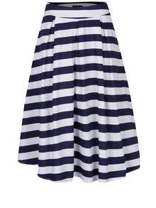 Modro-bílá pruhovaná áčková midi sukně Dolly & Dotty Rita