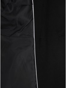 Palton negru cu guler detasabil din blana sintetica Dorothy Perkins