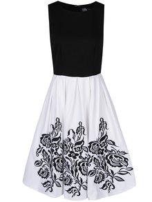 Bílo-černé šaty s výšivkami Dolly & Dotty Annie