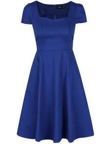 Modré šaty s rukávky Dolly & Dotty Claudia