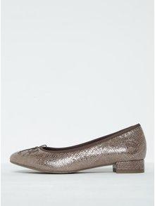 Béžové třpytivé semišové baleríny Tamaris