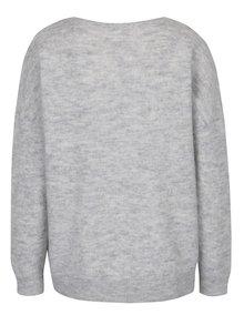 Svetlosivý vlnený sveter s prímesou mohéru Selected Femme Livana