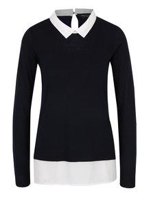 Tmavomodrý top so všitou košeľou Dorothy Perkins
