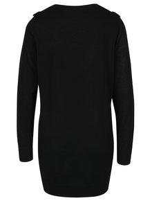 Čierny dlhý sveter s volánom Dorothy Perkins