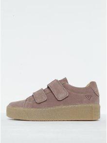Pantofi sport roz prăfuit cu velcro Tamaris