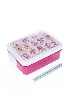 Ružový dievčenský desiatový box Tyrrell Katz Flower Fairy