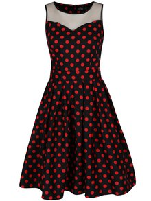 Rochie cloș neagră cu buline roșii - Dolly & Dotty Elizabeth