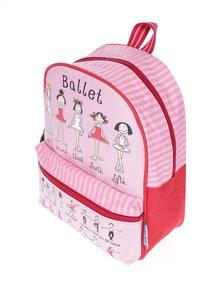 Ružovo-červený dievčenský batoh Tyrrell Katz Ballet