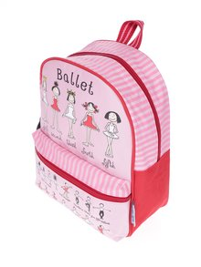 Růžovo-červený holčičí batoh Tyrrell Katz Ballet