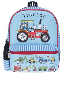 Oranžovo-modrý chlapčenský batoh Tyrrell Katz Working Wheels