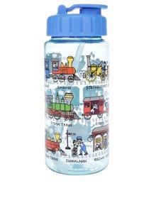 Modrá chlapčenská fľaša na pitie Tyrrell Katz Trains