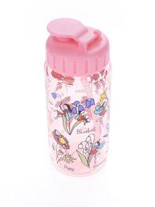 Růžová holčičí láhev s potiskem Tyrrell Katz Horses