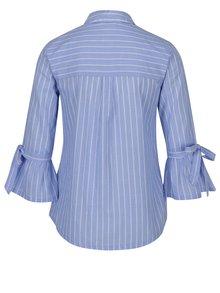 Modrá pruhovaná košeľa s 3/4 zvonovými rukávmi Dorothy Perkins