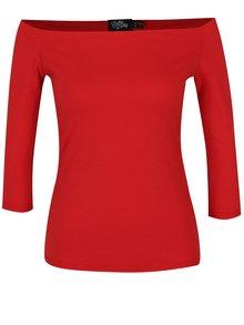 Bluză roșie cu decolteu pe umeri - Dolly & Dotty Gloria