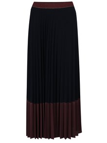 Vínová plisovaná maxi sukňa Rich & Royal