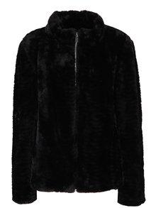 Čierna bunda z umelého kožúška Dorothy Perkins