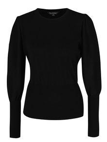 Čierny sveter s balónovými rukávmi Miss Selfridge