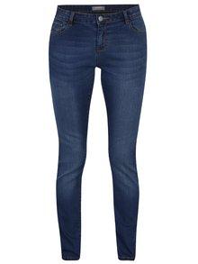 Tmavě modré strečové skinny džíny s opraným efektem Dorothy Perkins