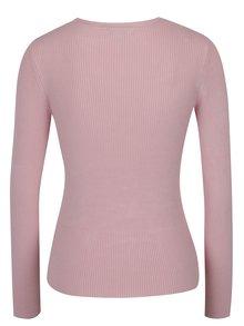 Svetloružový sveter so šnurovaním Miss Selfridge