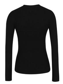 Čierny sveter s chokerom a sponou Miss Selfridge
