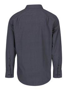 Tmavě modrá košile s bílo-vínovými drobnými trojúhelníky Seidensticker