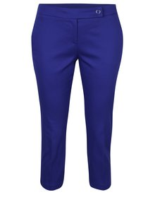 Modré zkrácené kalhoty Dorothy Perkins Petite