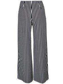 Krémovo-čierne pruhované voľné nohavice so zaväzovaním Miss Selfridge
