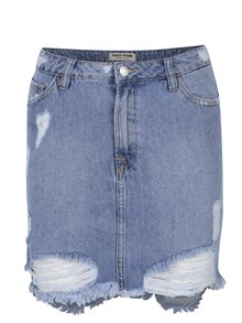Modrá džínová sukně s potrhaným efektem TALLY WEiJL
