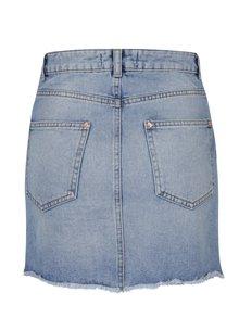 Světle modrá džínová minisukně s korálky Miss Selfridge