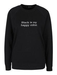 Čierna mikina s potlačou TALLY WEiJL