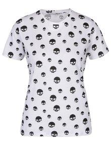 Bílé tričko s potiskem lebek TALLY WEiJL