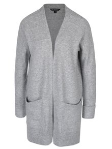 Cardigan lung gri melanj - Miss Selfridge