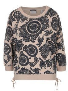 Bluza bej cu model in contrast Scotch & Soda