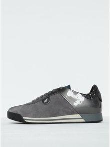 Tmavě šedé dámské semišové tenisky s detaily Geox Chewa