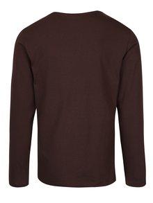Bluză maro închis din bumbac - Blend