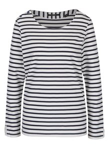 Modro-biele pruhované tričko s dlhým rukávom Maison Schotch