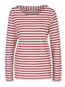 Bluză alb&roșu cu model în dungi Maison Scotch