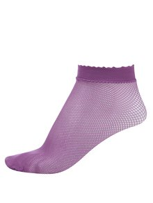 Ružové silonkové členkové ponožky Gipsy