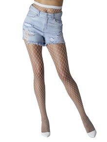 Bílé síťované punčochové kalhoty Gipsy