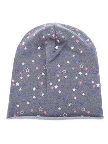 Sivá dievčenská čiapka s potlačou hviezd 5.10.15.