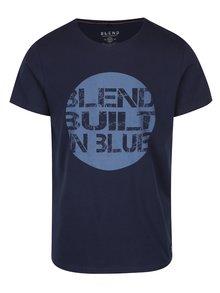 Tricou bleumarin din bumbac cu print  - Blend